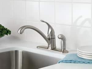 Moen Torrance Single Lever Handle Low Arc Lavatory Faucet in Spot Resist Stainless Steel MCA87484SRS