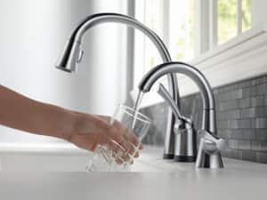 Delta Faucet Transitional 1.5 gpm Single Lever Handle Beverage Faucet D1977DST