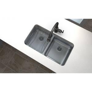 Elkay Gourmet® 2-Bowl Undercounter Stainless Steel Kitchen Sink in Satin EELUH3118PD