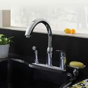 American Standard Arch™ 2.2 gpm Single Lever Handle Deckmount Kitchen Sink Faucet 180 Degree Swivel A4101301