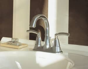 American Standard Tropic® 1.2 gpm 3-Hole Centerset Lavatory Faucet with Double Lever Handle A7038201