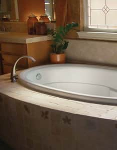 Hydro Systems Riley 72 x 41-1/2 in. Oval Whirlpool Bathtub with Left Hand Drain HRIL7242AWP