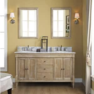 Fairmont Designs Rustic Chic 34-1/2 x 60 in. Double Bowl Vanity FV6021D