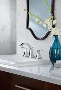 Moen Voss™ Widespread Lavatory Faucet with Double Lever Handle MT6905