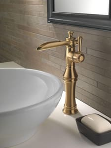 Delta Faucet Cassidy™ 1-Hole Channel Spout with Single Lever Handle and Riser D798LF