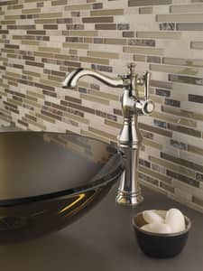 Delta Faucet Cassidy™ Faucet and Riser with Single Lever Handle D797LF