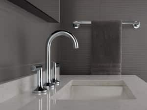 Delta Faucet Odin™ 3 or 4-Hole Vessel Fillers Lavatory Faucet with Double Lever Handle and 6-1/8 in. Spout Height D65375LF