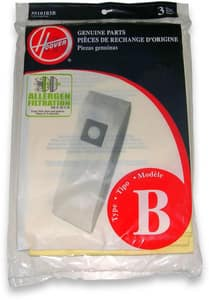 Type B Allergen Bag for Hoover U4730, C1320, U4707 and CH53000 Light Weight Vacuum 3-Pack H4010103B