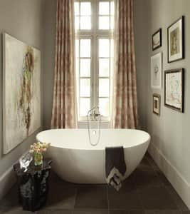 MTI Whirlpools Elise 3 62-1/4 x 35-7/8 in. Freestanding Oval Bathtub with Center Drain MTIS128