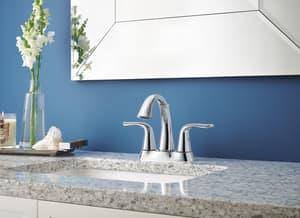 Delta Faucet Lahara® Centerset Lavatory Faucet with Lever Handle D2538MPUDST