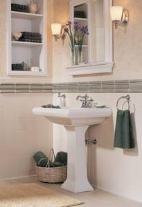 Delta Faucet Victorian® Centerset Lavatory Faucet with Double Lever Handle D2555MPUDST