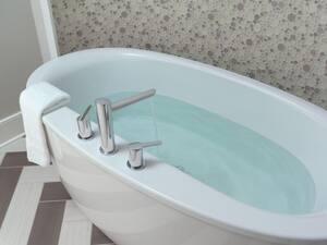 Delta Faucet Compel® 3-Hole Double Lever Handle Deckmount Roman Tub Faucet (Trim Only) DT2761