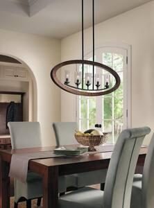 Kichler Lighting Grand Bank™ 60W 5-Light Candelabra Base Incandescent Chandelier in Auburn Stained KK43186AUB