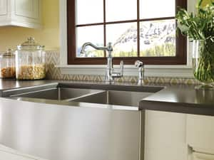 Moen Weymouth® High Arc Kitchen Faucet with Single Lever Handle MS72101