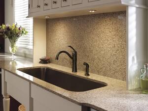 Moen 1.5 gpm Single Lever Handle High Arc Kitchen Faucet M87230