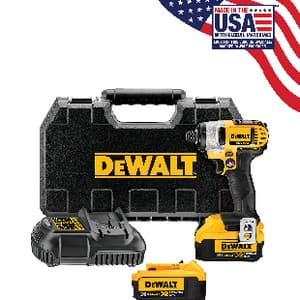 DEWALT 20 V 1/4 in. Max Lithium-Ion Impact Drive Kit DDCF885M2