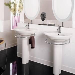 American Standard Murro™ 3-Hole Wall Mount Lavatory Sink in White A0958908EC020