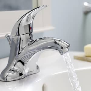 American Standard Reliant 3® 0.5 gpm 3-Hole Lavatory Faucet with Single Lever Handle in Polished Chrome A7385050002