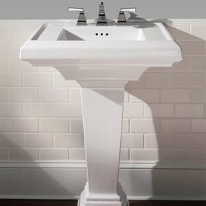 American Standard Town Square® 1-Hole Pedestal Rectangular Lavatory Sink A0790001