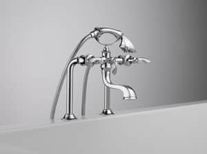 Brizo Charlotte® Faucet Trim with Double Lever Handle, Built-In Diverter and Hand Shower (Trim Only) DT70385