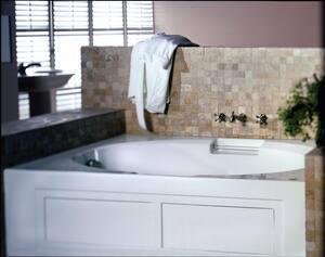 Jacuzzi Majora® 72 x 42 in. Acrylic Rectangle Skirted Whirlpool Bathtub with Left Drain and J2 Basic Control JMJ27242WLR2XX