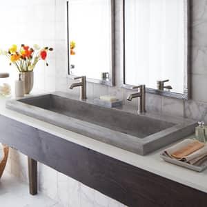 Native Trails Kitchen & Bath NativeStone™ No-Hole 1-Bowl Rectangular Bathroom Sink NNSL4819