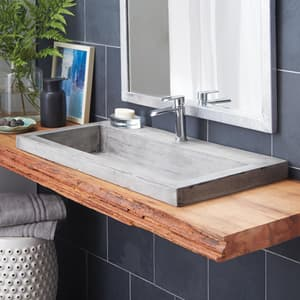 Native Trails Kitchen & Bath NativeStone™ No-Hole 1-Bowl Rectangular Bathroom Sink NNSL3619