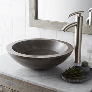 Native Trails Kitchen & Bath NativeStone™ No-Hole 1-Bowl Round Bathroom Sink NNSL1705