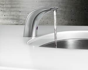 Moen 0.5 gpm Sensor Lavatory High Arc Battery Powered Non-Mixing Faucet in Polished Chrome M8553