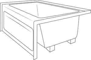 Jacuzzi Linea® Skirted Bathtub with End Drain JLNS6032BRXXXX