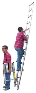 Vestil Manufacturing Aluminum and Molded Rubber Telescopic Ladder VTLAD