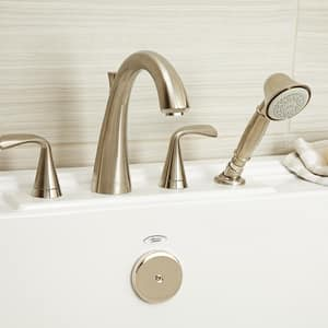 American Standard Fluent™ 2.5 gpm 4-Hole Tub Filler with Double Lever Handle A7186901