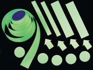 Harris Industries Glow Brite® 3 in. Glow-in-the-Dark Dot Tape in Green Roll of 100 HGLC03 at Pollardwater