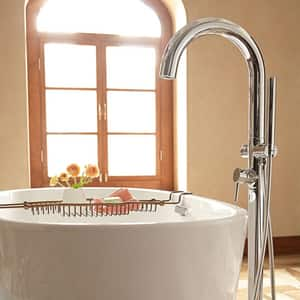 American Standard 2.5 gpm Roman Tub Faucet with Hand Shower and Single Lever Handle A2064951