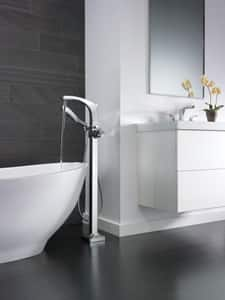 Delta Faucet Tesla® 1-Hole 12 gpm Floor Mount Tub Filler with Hand Shower (Trim Only) DT4752FL
