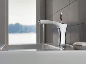Delta Faucet Tesla® 1 or 3-Hole Centerset Lavatory Faucet with Single-Handle and 5-3/16 in. Spout Height D552TLF
