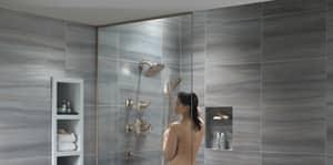 Delta Faucet Tesla® Pressure Balance Shower Trim with Double Lever Handle (Trim Only) DT17252