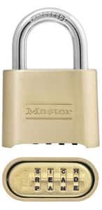 Master Lock Brass|Steel Combination Padlock MAS175 at Pollardwater