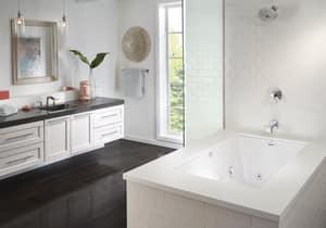 Jacuzzi Elara® 72 x 42 in. Acrylic Rectangle Drop-In or Undermount Air Bathtub with Left Drain and J2 Basic Control JELA7242ALR2XX