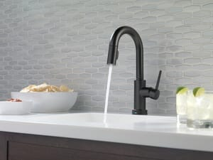 Delta Faucet Trinsic® 1-Hole Pull-Down Bar or Prep Faucet with Single Lever Handle and On/Off Touch Activation D9959TDST
