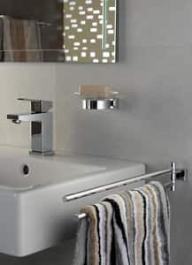 Grohe Essentials Cube 17-19/50 in. Double Towel in Starlight Chrome G40624001