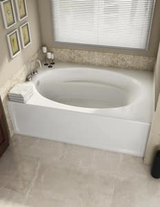 Jacuzzi Fiore™ 66 x 36 in. Acrylic Rectangle Freestanding Air Bathtub with Center Drain and J2 Basic Control JFIF6636ACX2XX