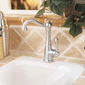 Pfister Marielle™ 1.8 gpm 1 or 3-Hole Kitchen Faucet with Single Lever Handle Bar PLF072M1