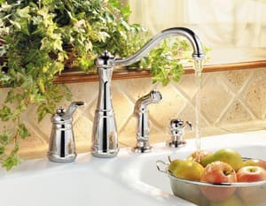 Pfister Marielle™ 4-Hole Kitchen Faucet with Single Lever Handle PLG264N