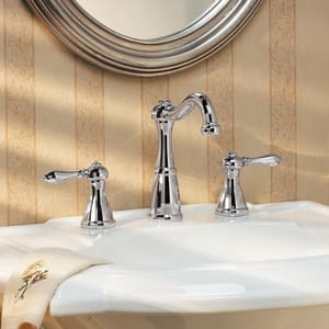 Pfister Marielle™ 1.2 gpm 3-Hole Widespread Bath Faucet with Double Lever Handle PLG49M0B
