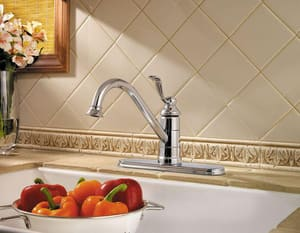 Pfister Portland™ 3-Hole Kitchen Faucet with Single Lever Handle PLG341P0