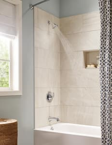 Moen Glyde™ 1.75 gpm Tub and Shower Valve Trim with Single Lever Handle MT2743EP