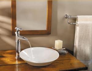Pfister Ashfield™ 1.2 gpm 1-Hole Vessel Lavatory Faucet with Single Lever Handle PLG40YP0