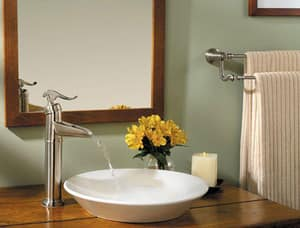 Pfister Ashfield™ 13-11/32 in. 1.2 gpm 1-Hole Lavatory Faucet with Single Lever Handle PLF040YP0