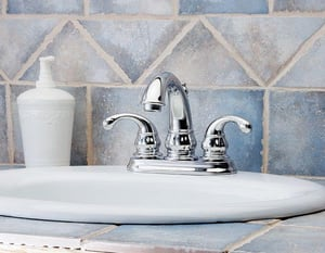 Pfister Treviso™ 5-17/32 in. 1.2 gpm 2-Hole Centerset Lavatory Faucet with Double Lever Handle PLF048D00